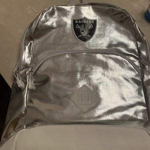Metallic Silver Raiders Backpack
